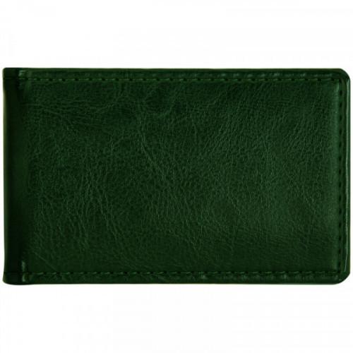 """Визитница карманная OfficeSpace """"Nebraska"""" на 24 визитки, 112*69мм, кожзам, зеленый"""