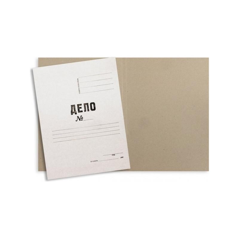 Папка-обложка Дело № мелованный картон А4 белая 280 г/кв.м