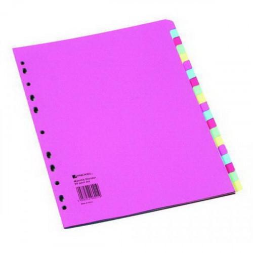 Разделитель листов 1-20 цветной картонный REXEL 75699