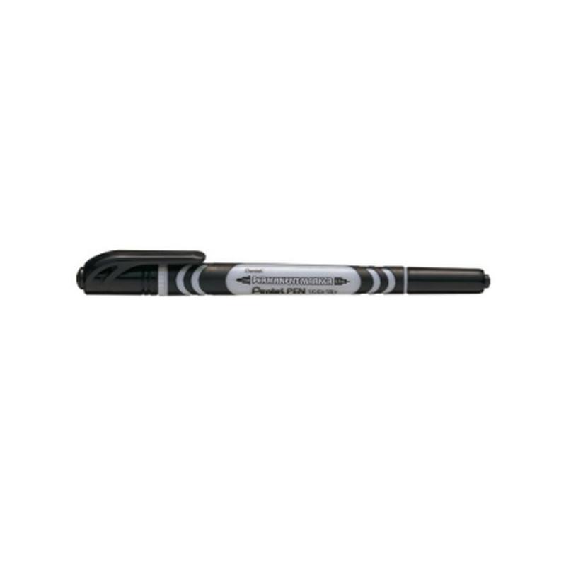 Маркер для CD Pentel N65W-A черный перманентный двусторонний (толщина линии 1-3.5 мм)