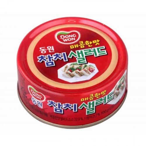 Паштет Dongwon из тунца пикантный консервированный 100 грамм