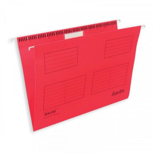 Папка подвесная BANTEX 3470-09 красная размер Foolscap
