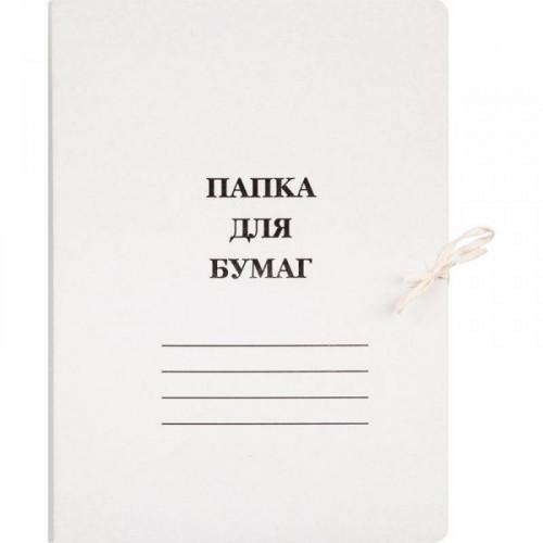 Папка для бумаг с завязками мелованный картон 440 г/кв.м