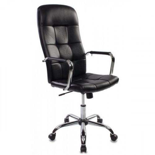 Кресло руководителя Бюрократ CH-909/BLACK черный искусственная кожа крестовина хром