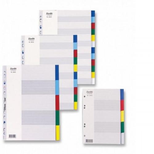 Разделитель листов 10 цветов пластик 6010 Bantex Дания