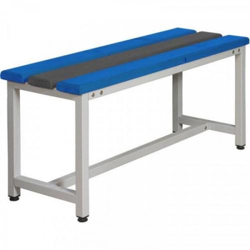 Металлическая скамья СКП1-1000 с пластиковым сиденьем 1000х350х480 мм
