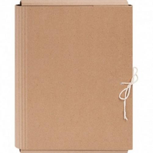 Папка архивная из переплетного картона 4.5 см с завязками