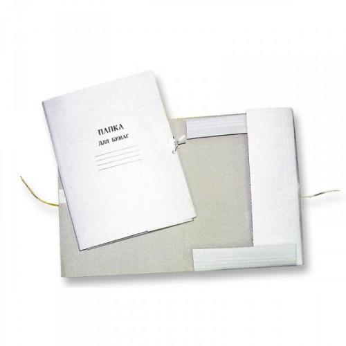 Папка для бумаг с завязками 220 г/кв.м немелованная