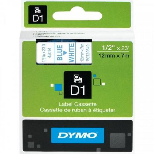 Картридж к принтеру DYMO LM150 и LP350 12 мм х 7 м синий/белый пластик