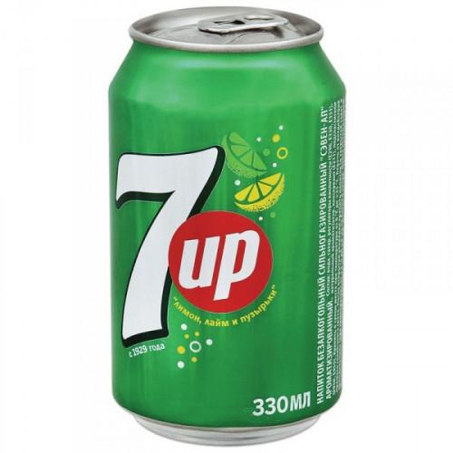 Напиток 7UP лимон/лайм газированный 0.33 литра 12 штук в упаковке