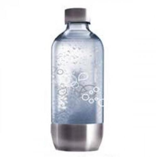 Бутылка SodaStream Metal Steel пластиковая с металлическим основанием и крышкой 1 литр