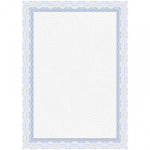 Сертификат-бумага синий,спираль А4 115 г пачка 25 листов с водными знаками