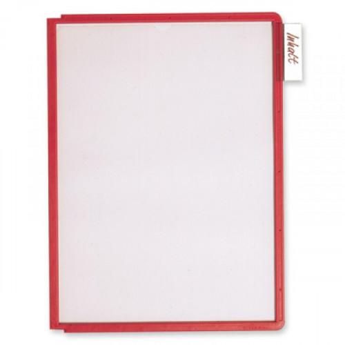 Панель для демосистемы Durable Sherpa А4 красная 5 штук в упаковке