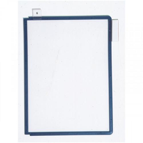 Панель для демосистемы Durable Sherpa А4 синяя 5 штук в упаковке
