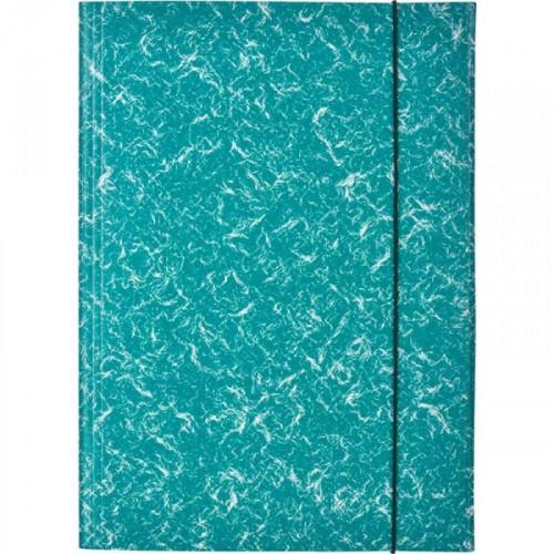 Папка на резинках Attache картонная зеленая 370 г/кв.м до 200 листов