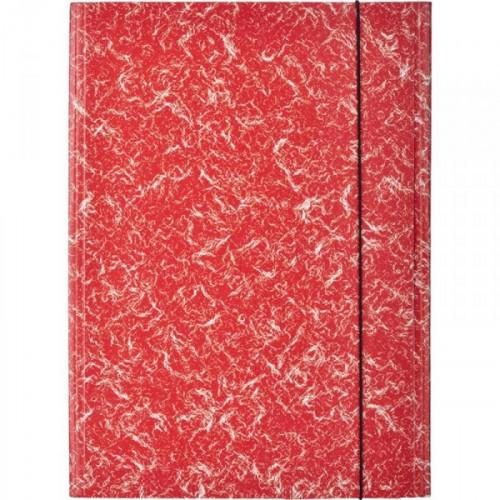 Папка на резинках Attache картонная красная 370 г/кв.м до 200 листов