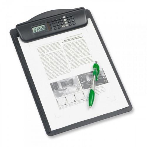Папка-планшет Maul Hebel пластиковая с калькулятором черная 3 мм