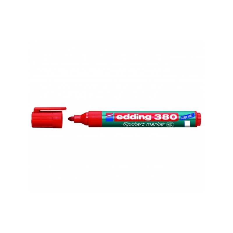 Маркер для флипчартов Edding E-380/2 cap off красный 2,2 мм