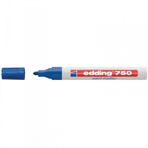 Маркер пеинт лаковый Edding E-750/3 синий с толщиной линии 2-4 мм
