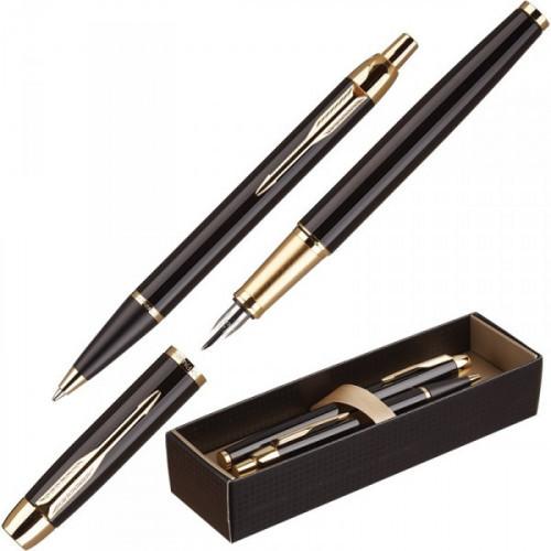 Набор Parker IM Black GT перьевая ручка и шариковая ручка