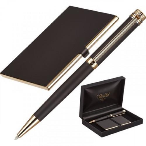 Набор VERDIE Ve-6BG шариковая ручка + визитница
