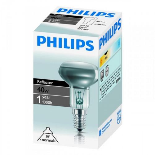 Лампа накаливания Philips 40 Вт цоколь E14 белый свет