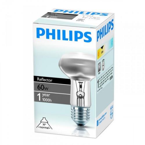 Лампа накаливания Philips 60 Вт цоколь E27 грибок белый свет