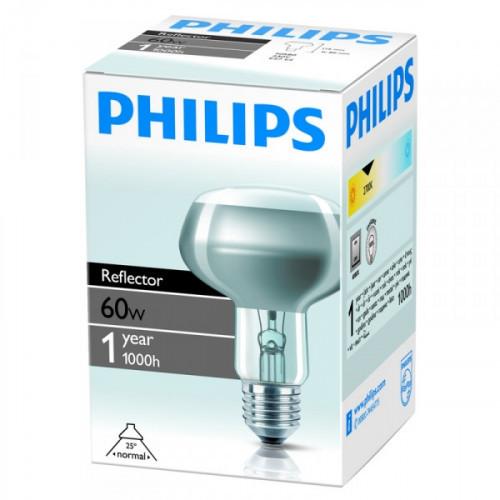 Лампа накаливания Philips 60 Вт цоколь E27 зеркальная белый свет