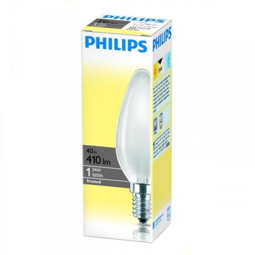 Лампа накаливания Philips 40 Вт цоколь E14 свеча теплый свет