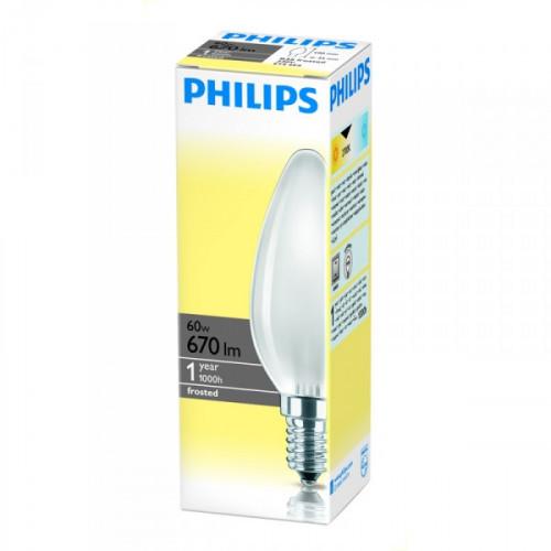 Лампа накаливания Philips 60 Вт цоколь E14 теплый свет