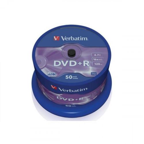 Носители информации Verbatim DVD+R 4,7Gb 16х Cake 50 штук