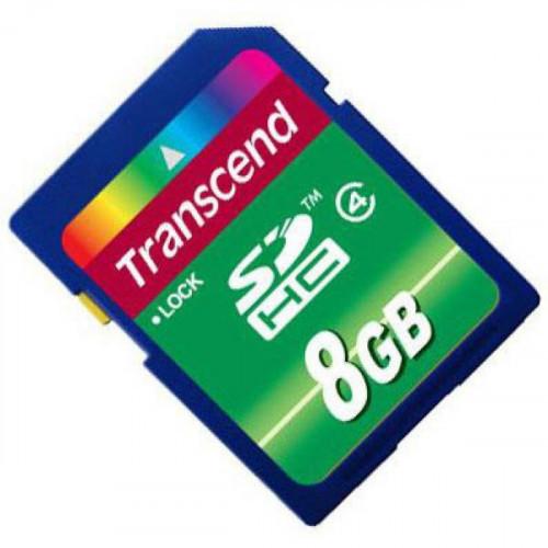 Карта памяти Transcend SDHC 8GB Class4(TS8GSDHC4)