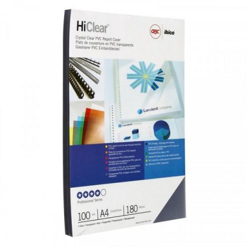 Обложки для переплета пластиковые прозрачные 100 штук/упаковка А4 180 мкм