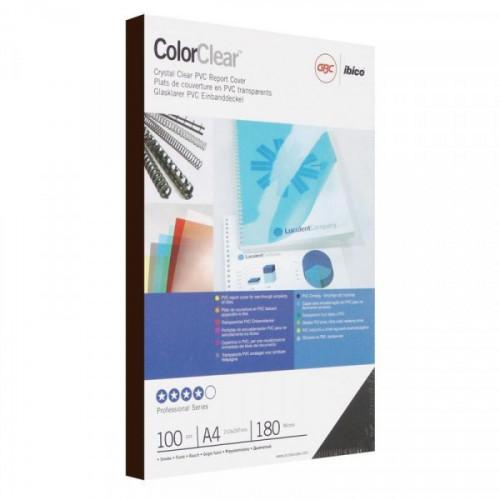Обложки для переплета пластиковые прозрачные дымчатые 100 штук/упаковка А4 180 мкм