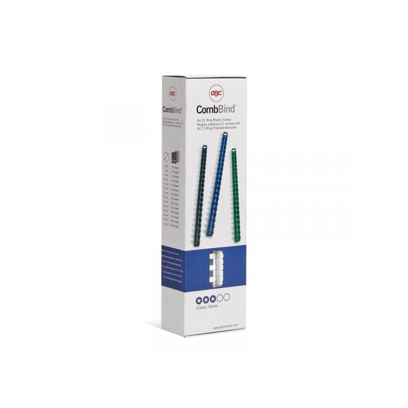 Пружины для переплета пластиковые белые 10 мм 100 штук в упаковке