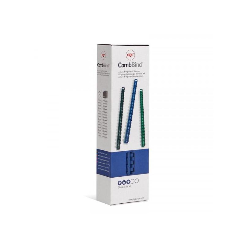 Пружины для переплета пластиковые синие 10 мм 100 штук/упаковка