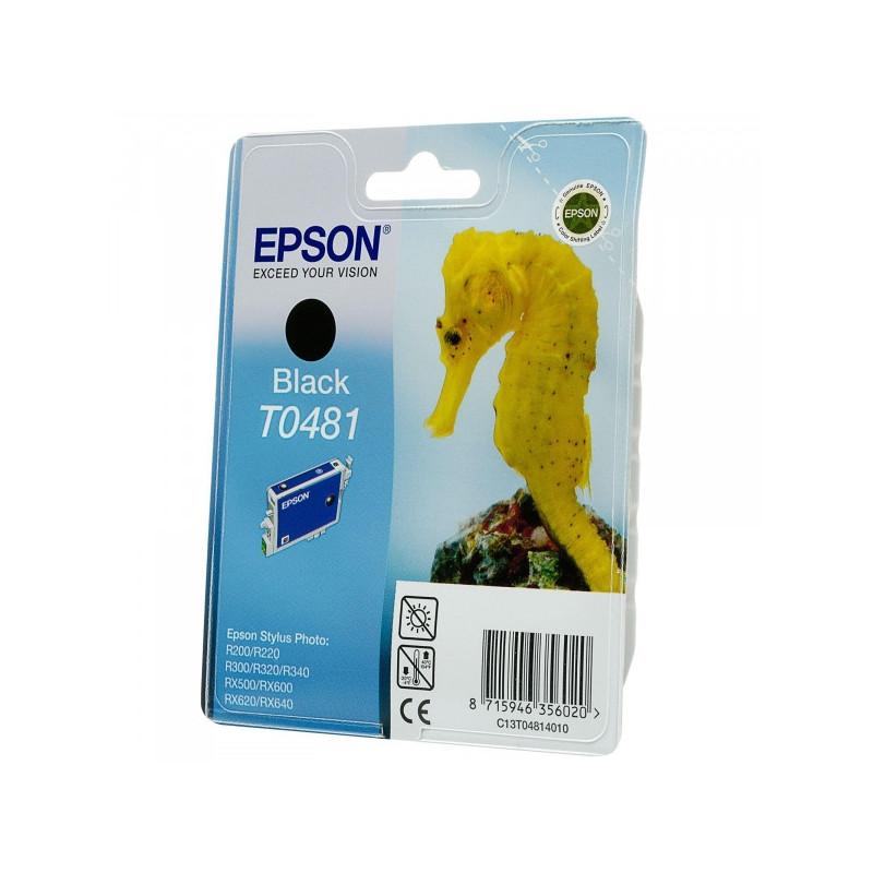Картридж струйный Epson T0481 C13T04814010 черный оригинальный