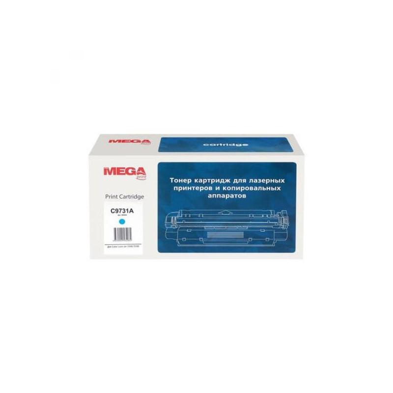 Тонер-картридж лазерный Pro Mega 645A C9731A голубой совместимый