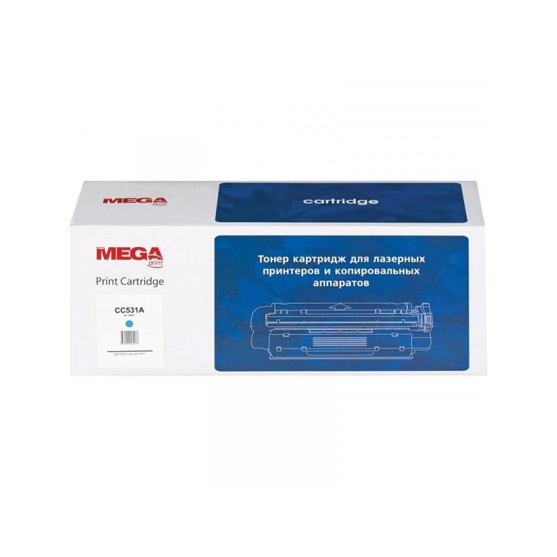 Тонер-картридж лазерный Pro Mega CC531A голубой совместимый