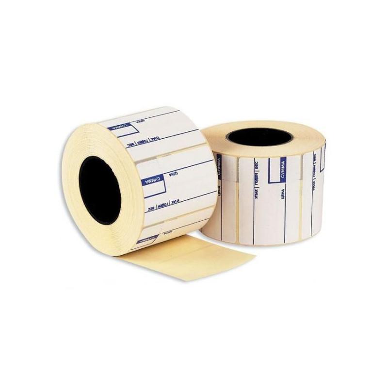 Термоэтикетки 58х40 эко препринт 700 штук/рулон 24 рулонов/упаковка