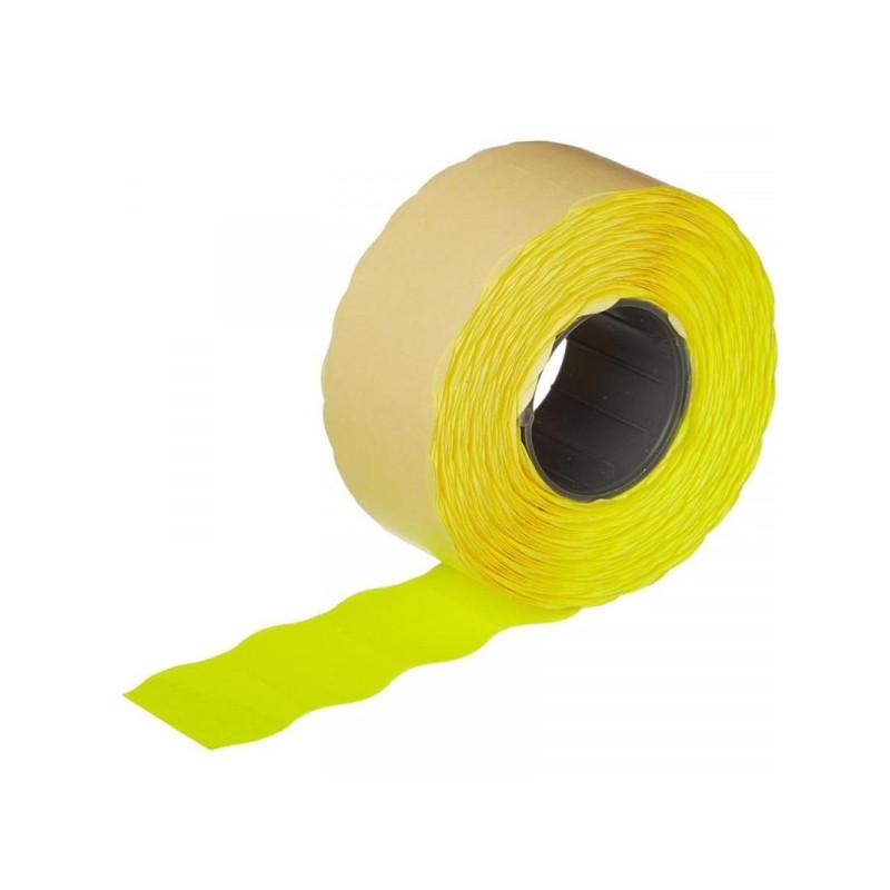 Этикет-лента 26х16 мм желтая волна 1000 штук/рулон 10 рулонов/упаковка