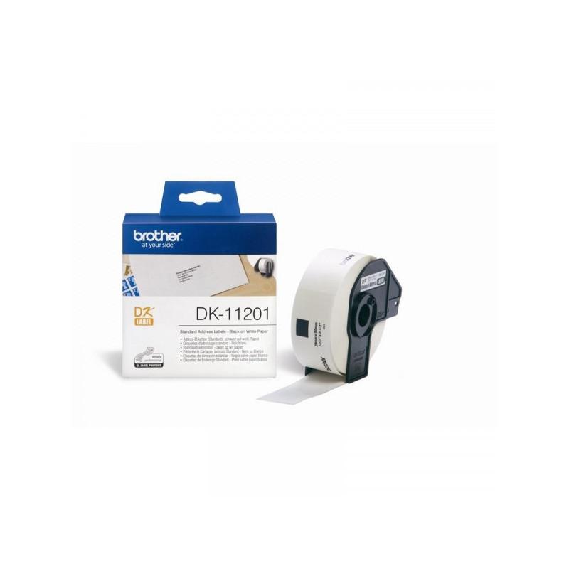 Картридж к принтеру Brother DK-11201 адресные наклейки 29х90 мм 400 штук