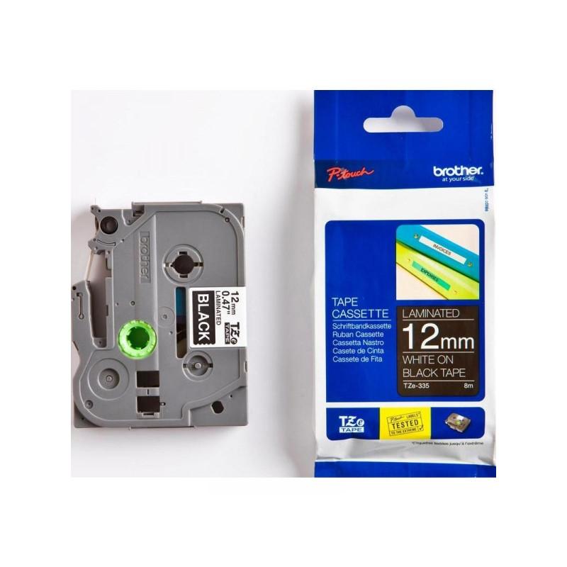 Картридж к принтеру Brother TZ/TZe-335 12 мм х 8 м белый/черный пластик