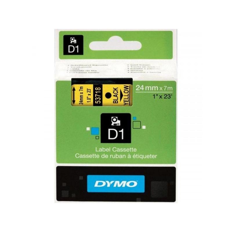 Картридж к принтеру DYMO LM PC II 24 мм х 7 м черный/желтый пластик