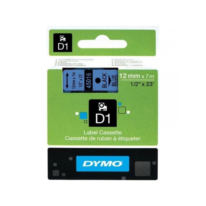 Картридж к принтеру DYMO LM150 и LP350 12 мм х 7 м черный/голубой пластик