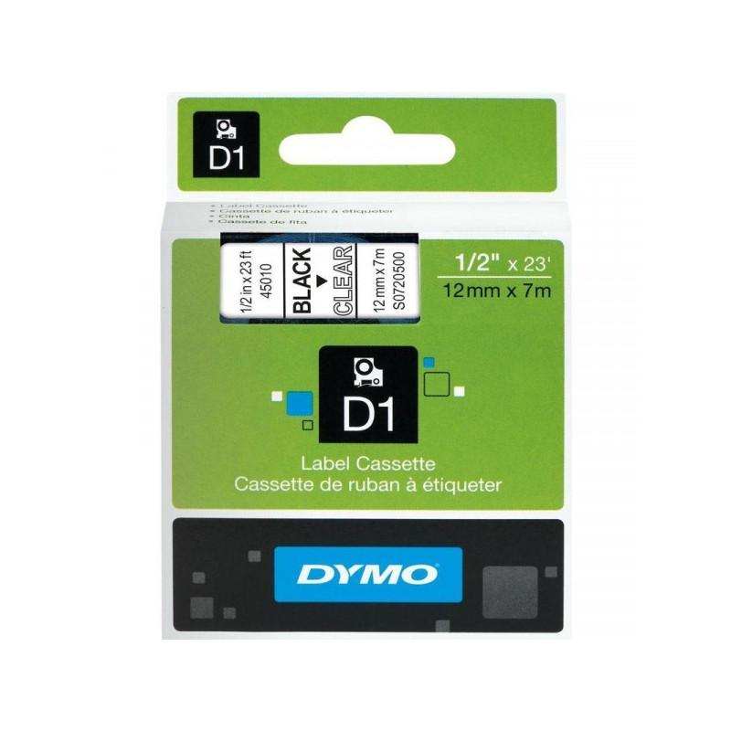 Картридж к принтеру DYMO LM150 и LP350 12 мм х 7 м черный/прозрачный пластик