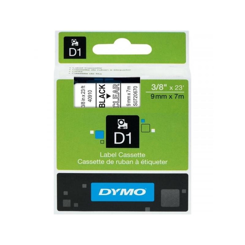 Картридж к принтеру DYMO LM150 LP350 9 мм х 7 м черный/прозрачный пластик