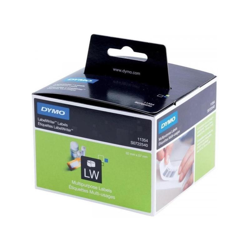 Картридж к принтеру DYMO LW этикетки 57x32 легко удаляемые бумажная 1000 штук/рулон