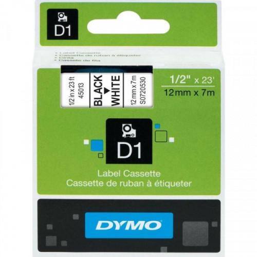 Картридж к принтеру DYMO LM150 и LP350 12 мм х 7 м черный/белый пластик
