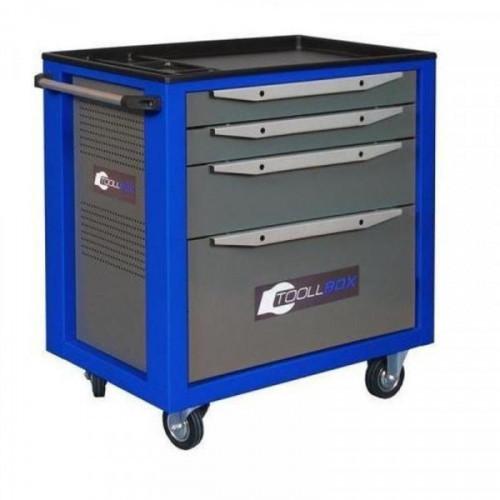 Металлическая тележка для инструментов TOOLBOX TBS-4 с 4 ящиками 468x800x775 мм